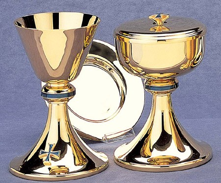 CHALICE W/WELL PATEN 9oz