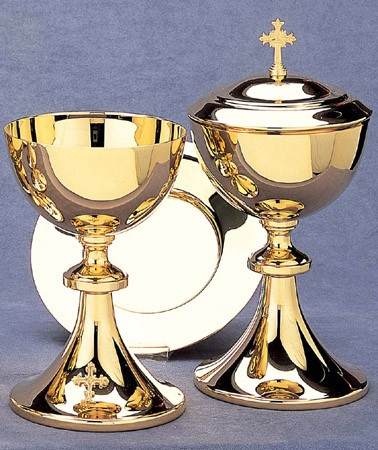 CHALICE W/WELL PATEN 15oz