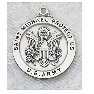 ST. MICHAEL US ARMY PEWTER MEDAL