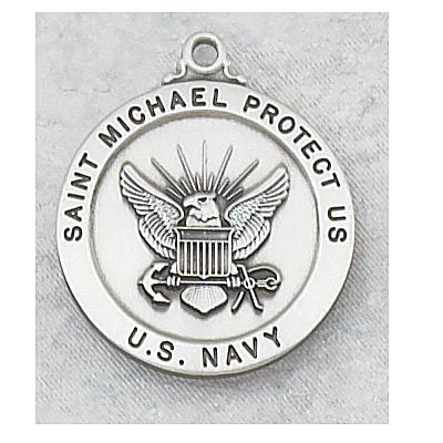 ST. MICHAEL US NAVY PEWTER MEDAL