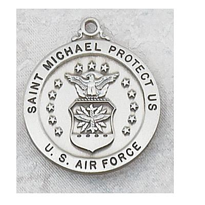 ST. MICHAEL US AIR FORCE PEWTER MEDAL