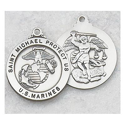 ST. MICHAEL US MARINES PEWTER MEDAL