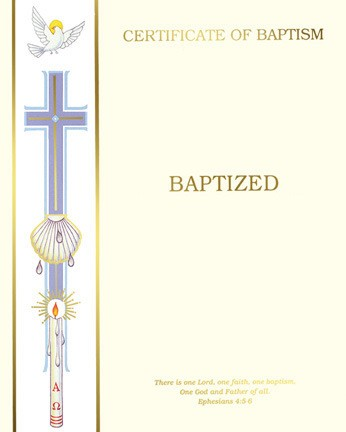 BAPTISM CERTIFICATE - CREATE YOUR OWN
