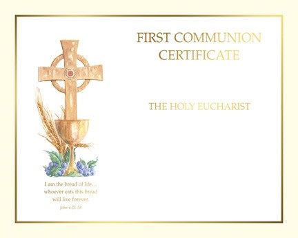 COMMUNION CERTIFICATE - CREATE YOUR OWN