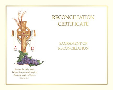 RECONCILIATION CERTIFICATE - CREATE YOUR OWN