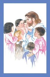 CHILDREN AND JESUS COMMUNION HOLY CARD