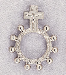 METAL ONE DECADE FINGER ROSARY