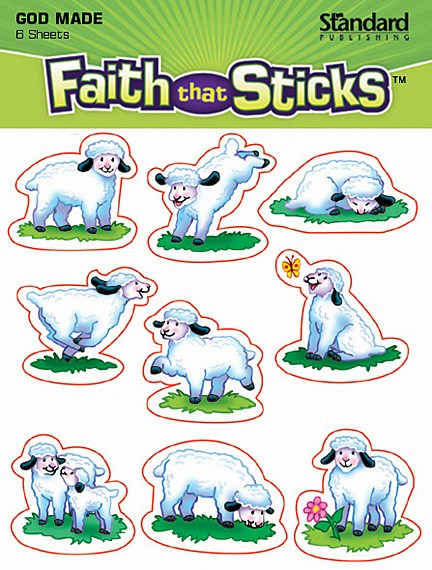 GOD MADE SHEEP FAITH STICKERS