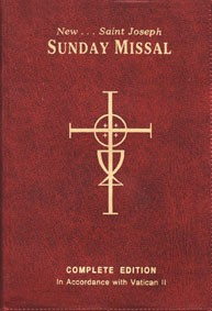 SAINT JOSEPH SUNDAY MISSAL - RED VINYL COVER