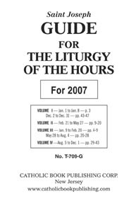 GUIDE FOR LITURGY OF THE HOURS - LARGE TYPE