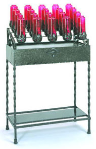 WROUGHT IRON BOTTLE CANDLE STAND
