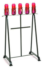 WROUGHT IRON CONTEMPORARY STAND