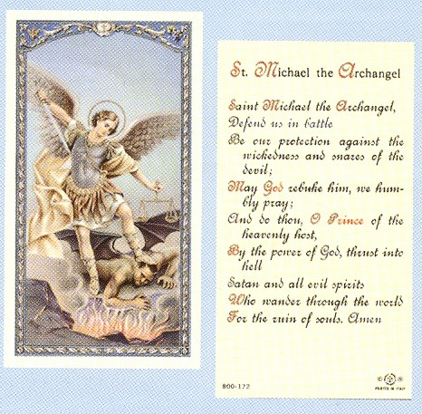 THE PRAYER TO ST MICHAEL