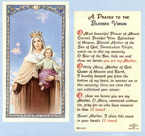 PRAYER TO THE BLESSED VIRGIN