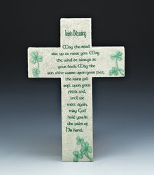 IRISH MESSAGE OF FAITH CROSS