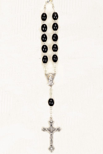BLACK WOOD AUTO ROSARY