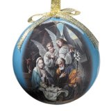 HOLY FAMILY WITH ANGELS ORNAMENT
