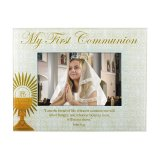 GLASS FIRST COMMUNION PHOTO FRAME
