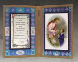 COMMUNION STAINED GLASS PLAQUE - BOY