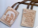 BROWN CLOTH EMBROIDERED SCAPULAR