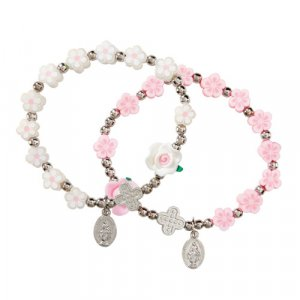 FLOWER BEAD STREATCH ROSARY BRACALET