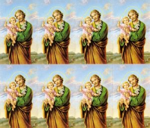 picture about Printable Prayer to St. Joseph identified as Sacco Business enterprise \u003e Tailored Prayer Playing cards \u003e ST JOSEPH
